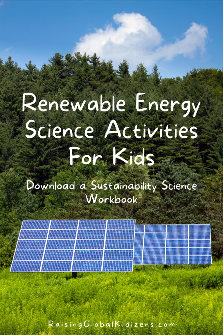 Renewable Energy Sustainability Science | Solar Energy Activities for Kids